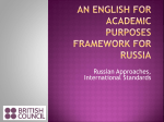 an english for academic purposes framework for russia