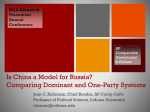 Is China a Model for Russia? Comparing Party Systems