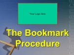 Bookmarktraining, bookmark