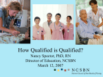How Qualified is Qualified? - National Council of State Boards of