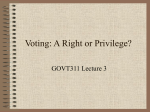Lecture 3: The Right to Vote