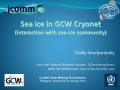Ice Information for Electronic Navigation Systems