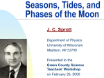 Seasons, Tides, and Phases of the Moon