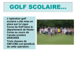 GOLF SCOLAIRE - Ligue de golf Corse