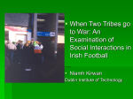 Two Tribes go to War: Social Interaction at Irish Football Games