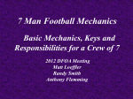 Football 7 - man Mechanics