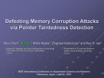 Defeating Memory Corruption Attacks via Pointer Taintedness