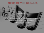 Music of the Decades