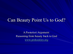 Lecture 9 Can Beauty Point Us to God?