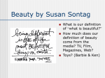 Beauty by Susan Sontag