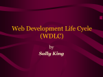 Web Development Life Cycle (WDLC)