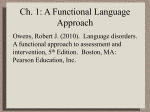 Ch. 1: A Functional Language Approach - DeafEd