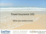 Travel Insurance 101 Oct 2011