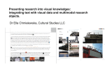integrating text with visual data and multimodal research objects.