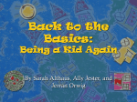 Back to the Basics: Being a Kid Again