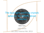 Direct WIMPs Search with Dual Light-emitting Crystals