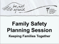 Family Safety Planning Session PowerPoint