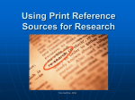 Types of Print Reference Sources for Research