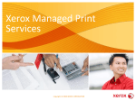 PowerPoint Presentation on Xerox Managed Print