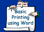 Basic Printing Using Microsoft Word