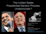 The United States Presidential Election Process