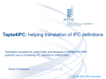 IPC Workshop (2013) - Tapta4IPC: helping translation of