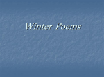 Winter Poems - Primary Resources