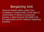 Establishing a bargaining unit