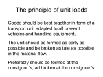 The principle of unit loads