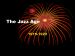 The Jazz Age Part I