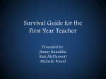 Survival Guide for First Year Teachers