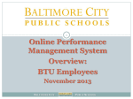 OPMS Overview for BTU Employees