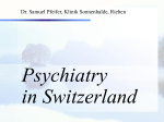 Psychiatry in Switzerland - seminare