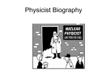 Physicist Biography Project Instructions