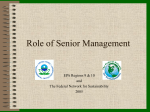 The Role of Management - Environmental Protection Agency