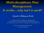Multi-Disciplinary Pain Management