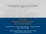 Poland - successes and challenges - education reform