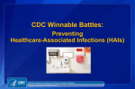 Healthcare Epidemiology - Centers for Disease Control and