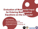 Evaluation of Multimodal Input for Entering Mathematical Equations