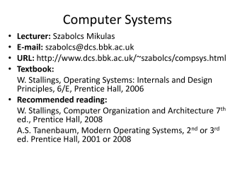 slides - Department of Computer Science and Information Systems