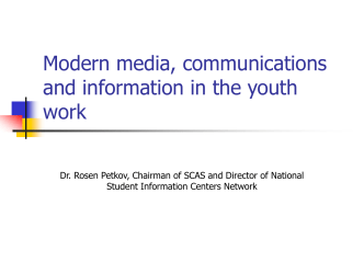 Youth information and modern media in work with