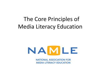 Core Principles of Media Literacy Education