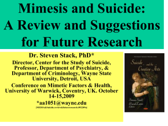 Media Effects on Suicide: A Meta - Analysis
