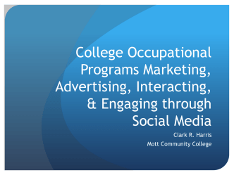 College Occupational Programs Marketing