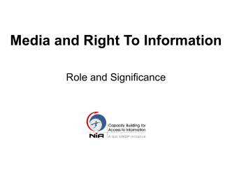 MEDIA AND RTI - Gateway on RTI