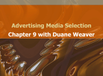 Chapter 9 - Advertising Media Selection