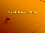 Social class and Sport