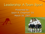 Leadership: A Team Sport