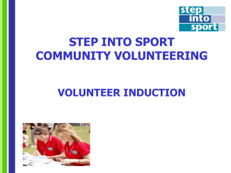 Step into Sport Induction