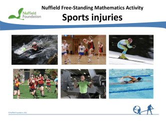 Sports injuries - Nuffield Foundation